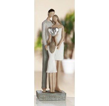 Beeld bruidspaar met dochter