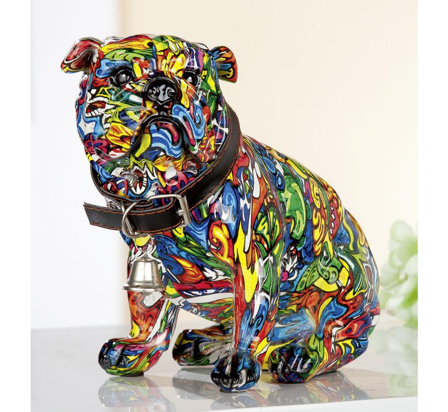 Bulldog beeld Pop-art style