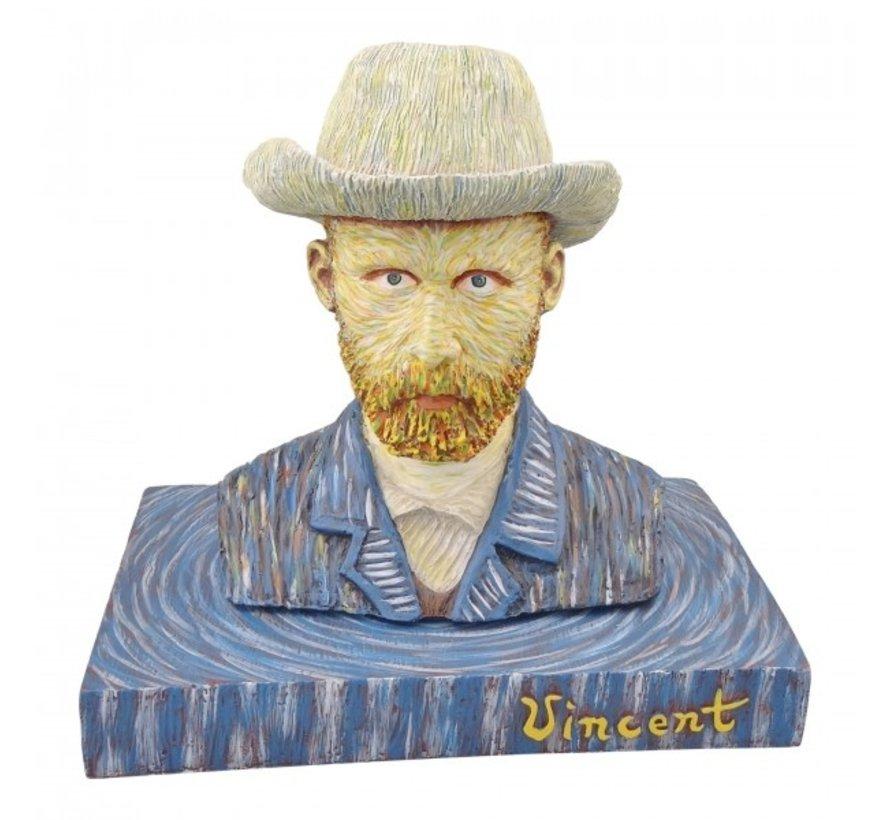 Zelfportret met vilthoed van Gogh in beeld