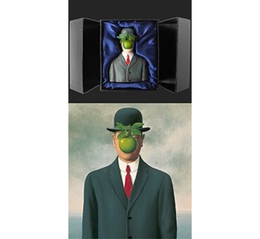 Beeld Magritte Mensenzoon