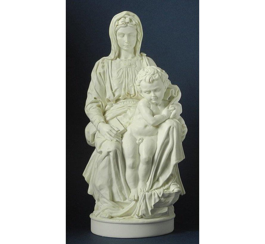 Beeld Michelangelo Madonna van Brugge
