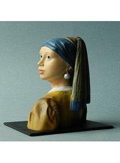 Beeld meisje met de parel naar Vermeer