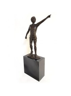 Corry Ammerlaan Bronzen beeld Johan Cruijff