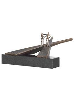 Corry Ammerlaan Op scheiding van wegen sculptuur brons
