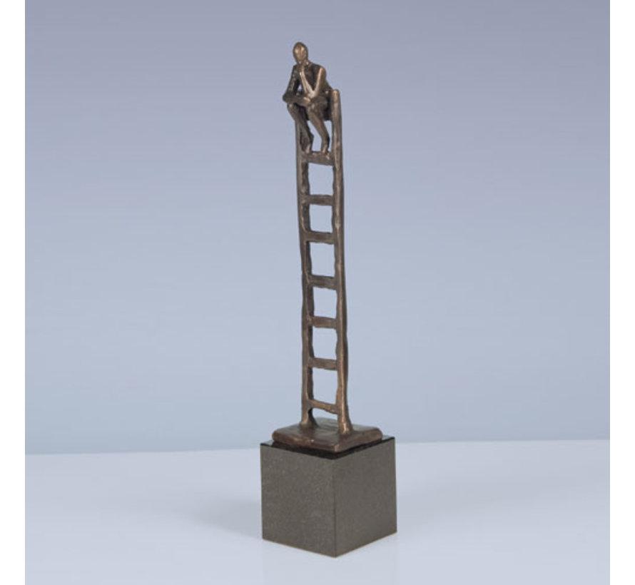 Beeld Denkende Mens (geheel brons)