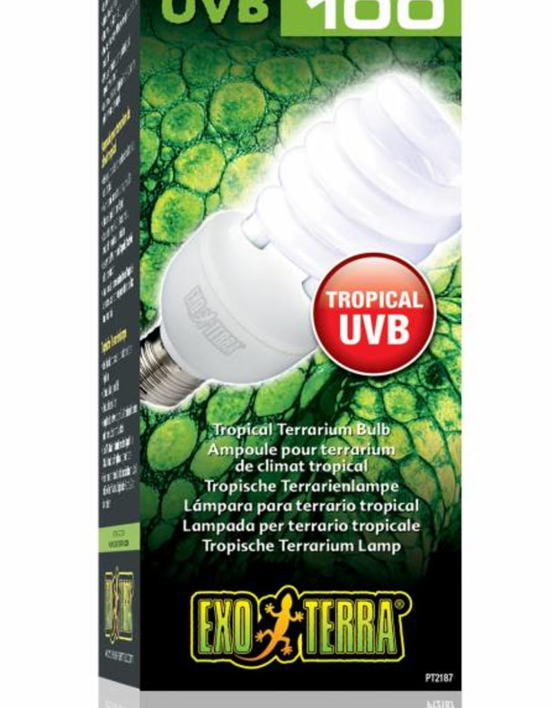 Exo Terra Reptile UVB 100 E27 - Verlichting - 25Watt Tropical