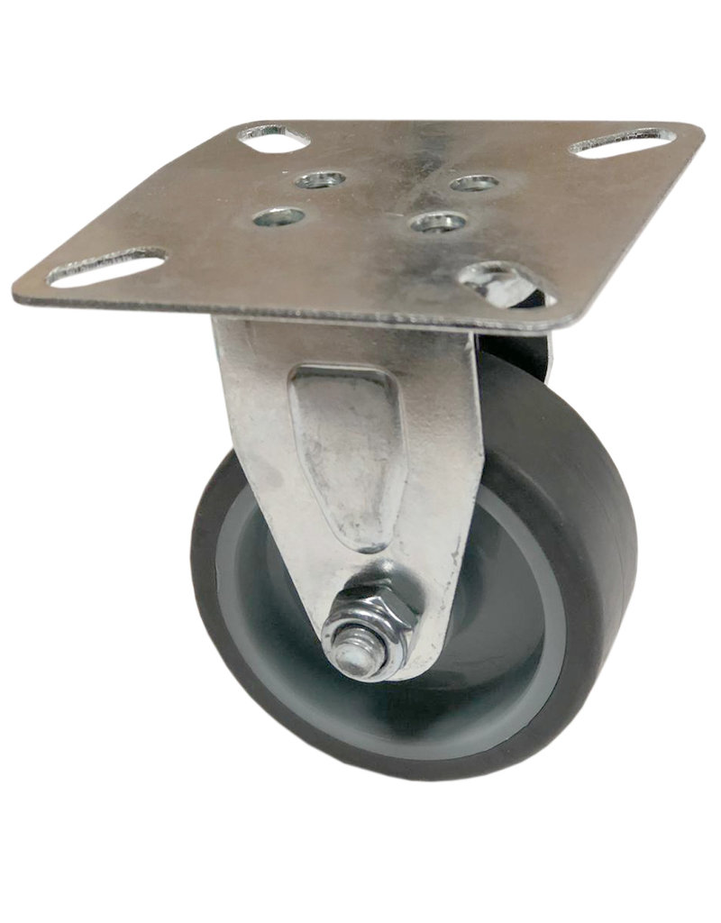 Swivel wheel with plate without brake