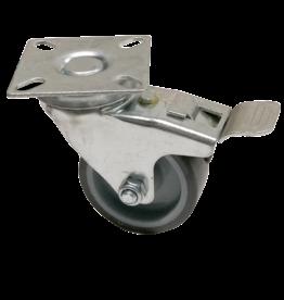 Swivel wheel with plate brake