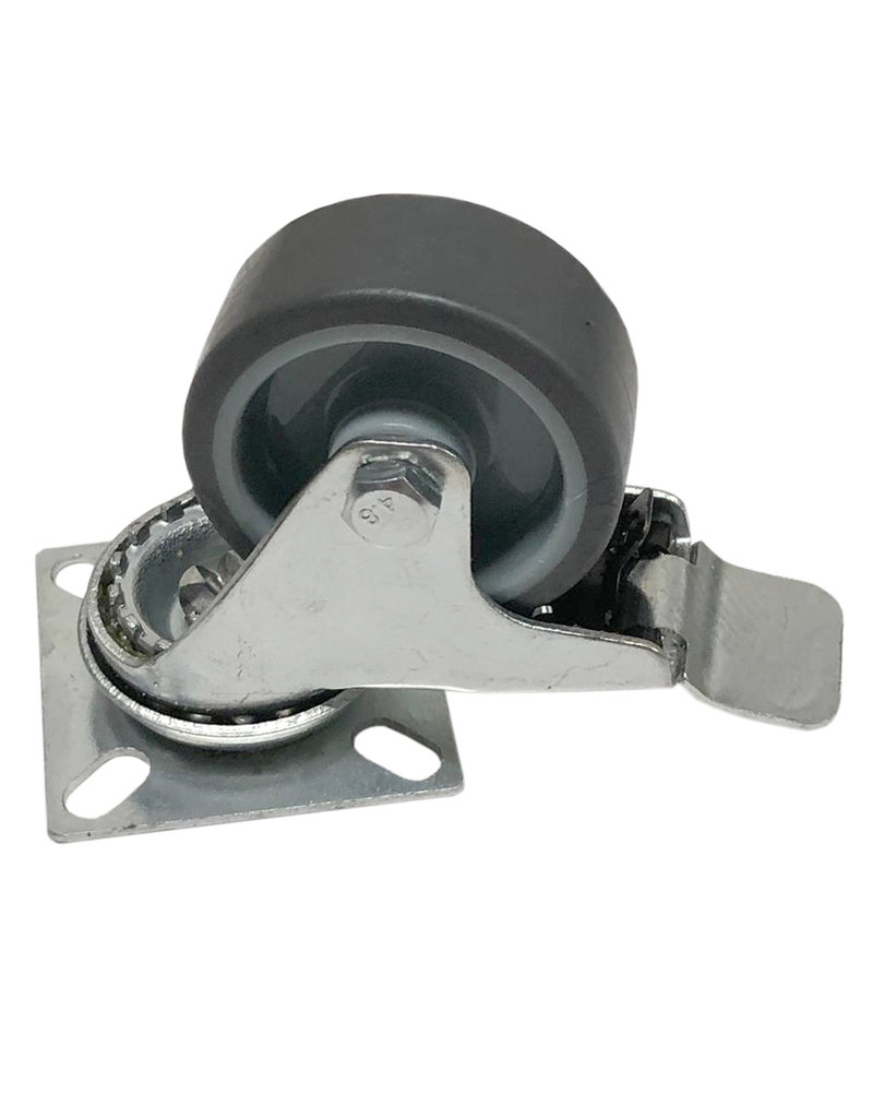 Swivel wheel with plate brake