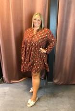 Printed loose dress Loa