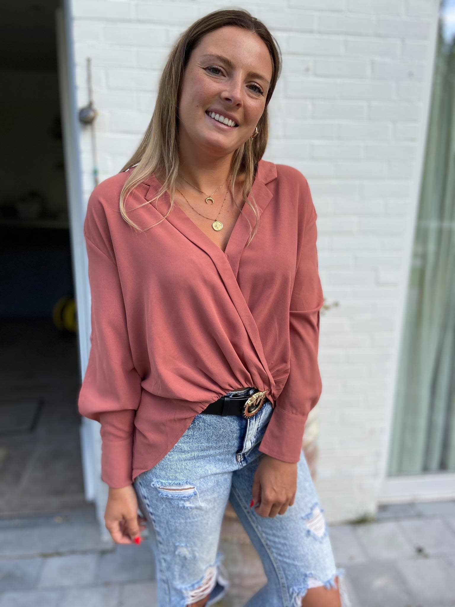 Blouse Zalo roos