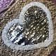 HAND WEAVED BEACH BAG HEART MOTIF GOLD