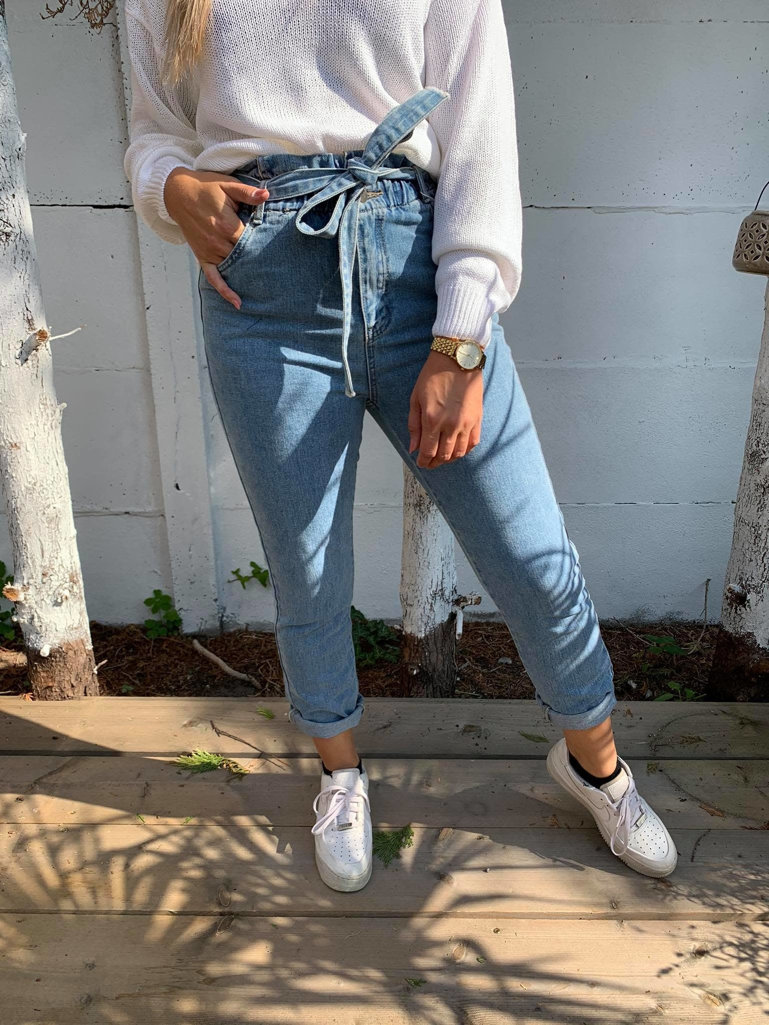 Danielle paper waist jeans denim
