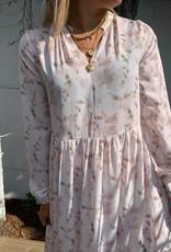 Elsa long dress Dusty pink