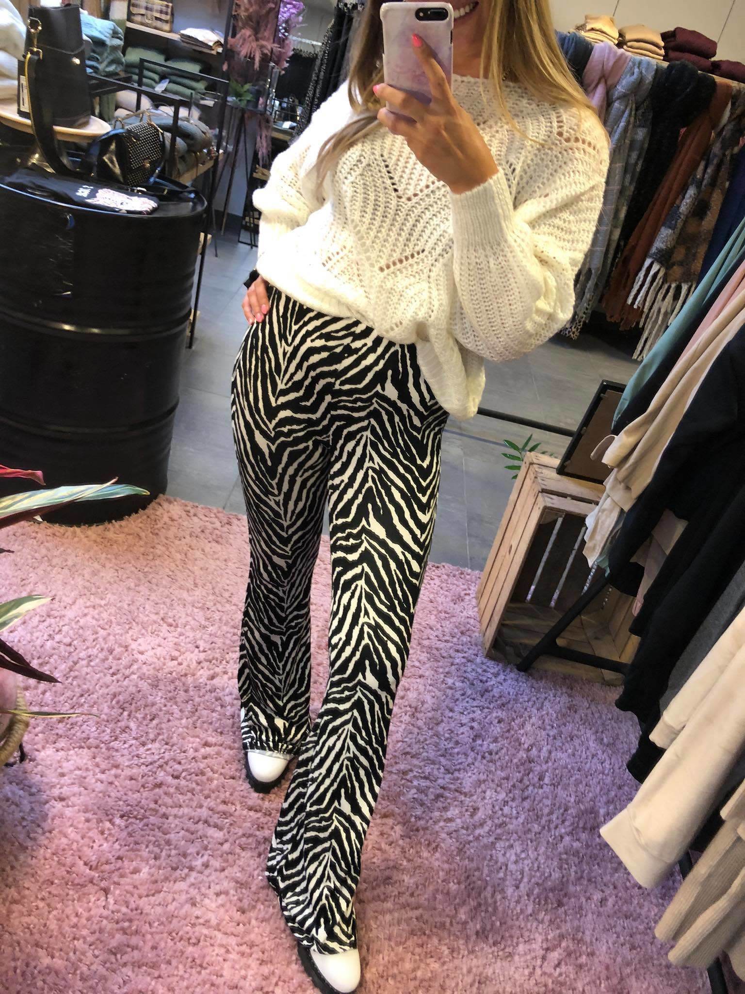 Broek stretch zebrà