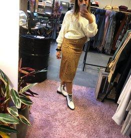 Bea skirt dark beige dot