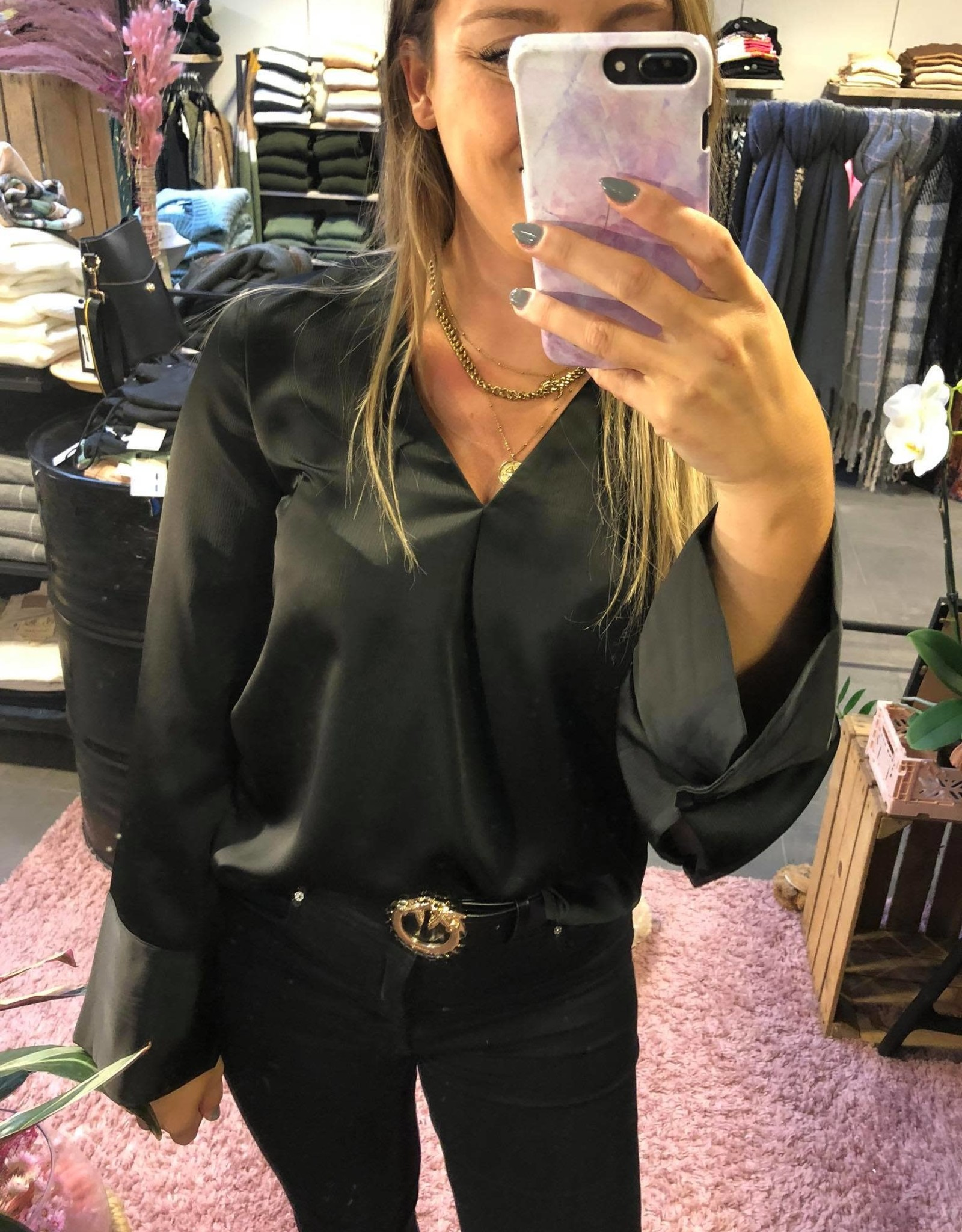 charlotte blouse black