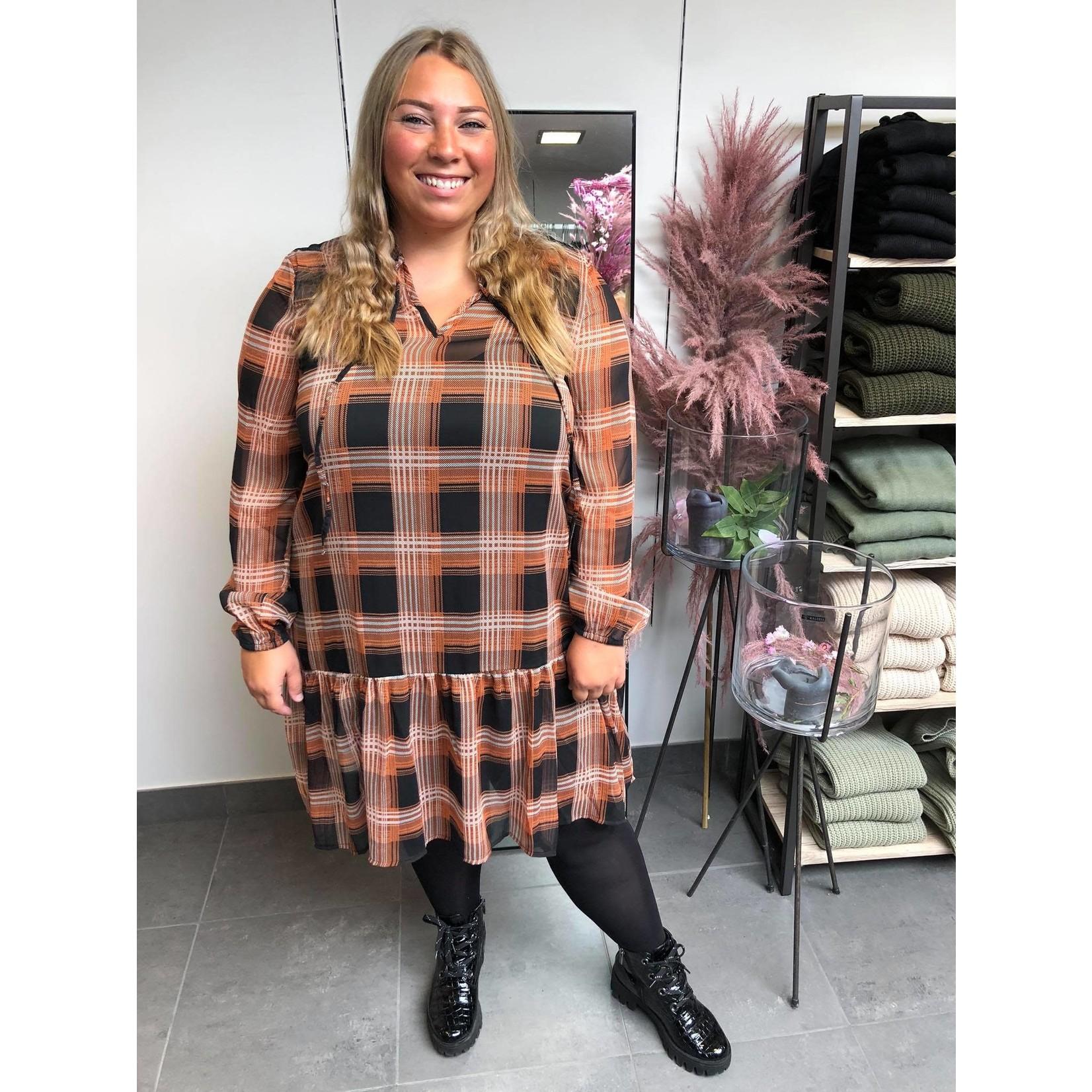 KAstine Chiffon Dress black sierra