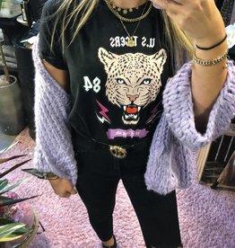 T-shirt tigerbeige-black lilac