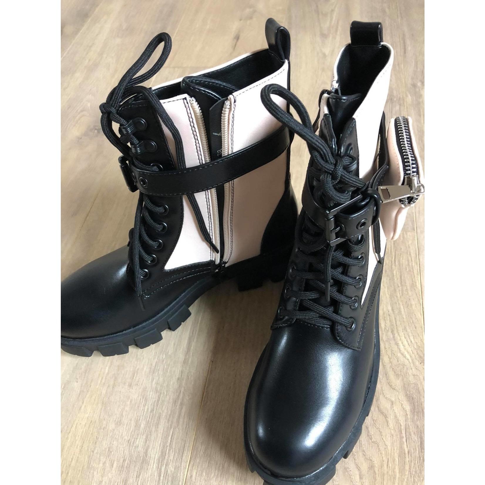 Kaat boots beige/zwart