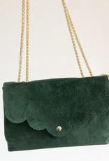 Suede bag alphine green
