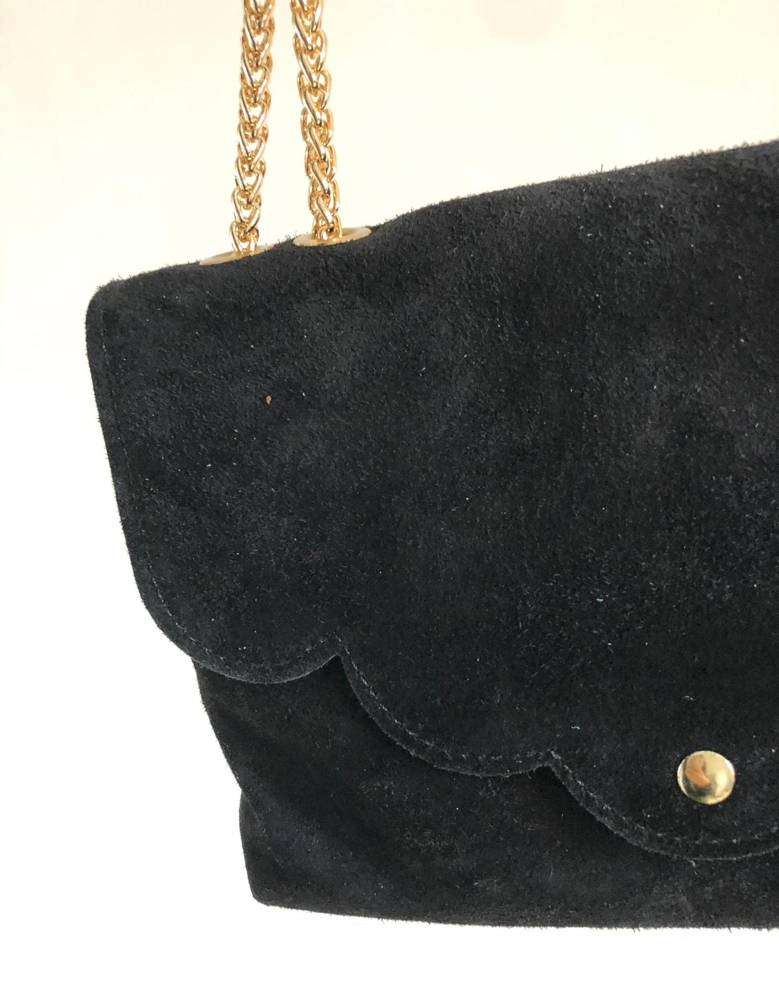 suede bag black