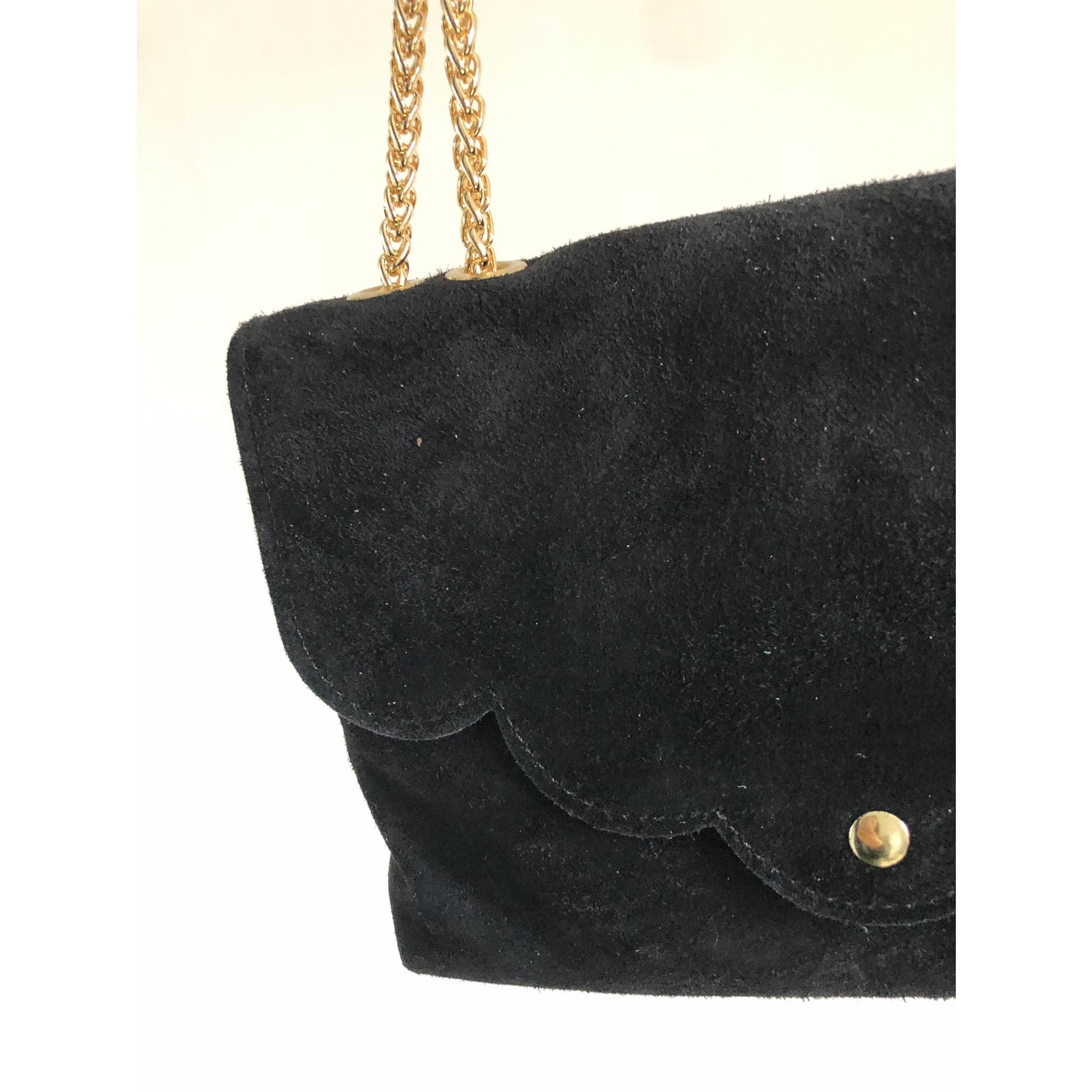 suede bag black