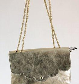 Suede bag gold