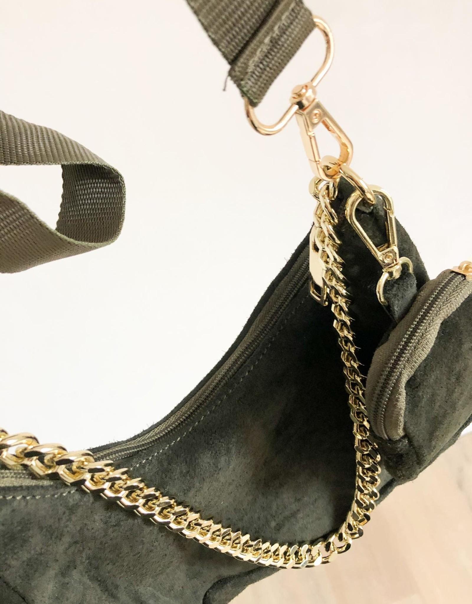 suede bag perfect kaki