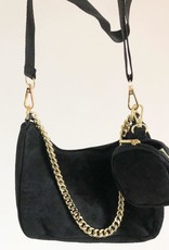 Suede bag perfect black