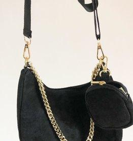 Suede bag perfect black