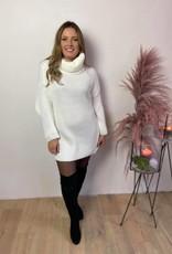 Knit dress cozytime gebroken wit TU