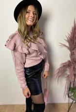 NINA FRILL KNIT dusty pink