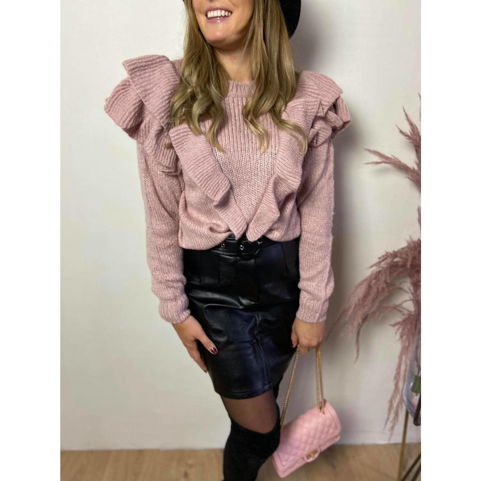 Skirt Salomé black pu leather