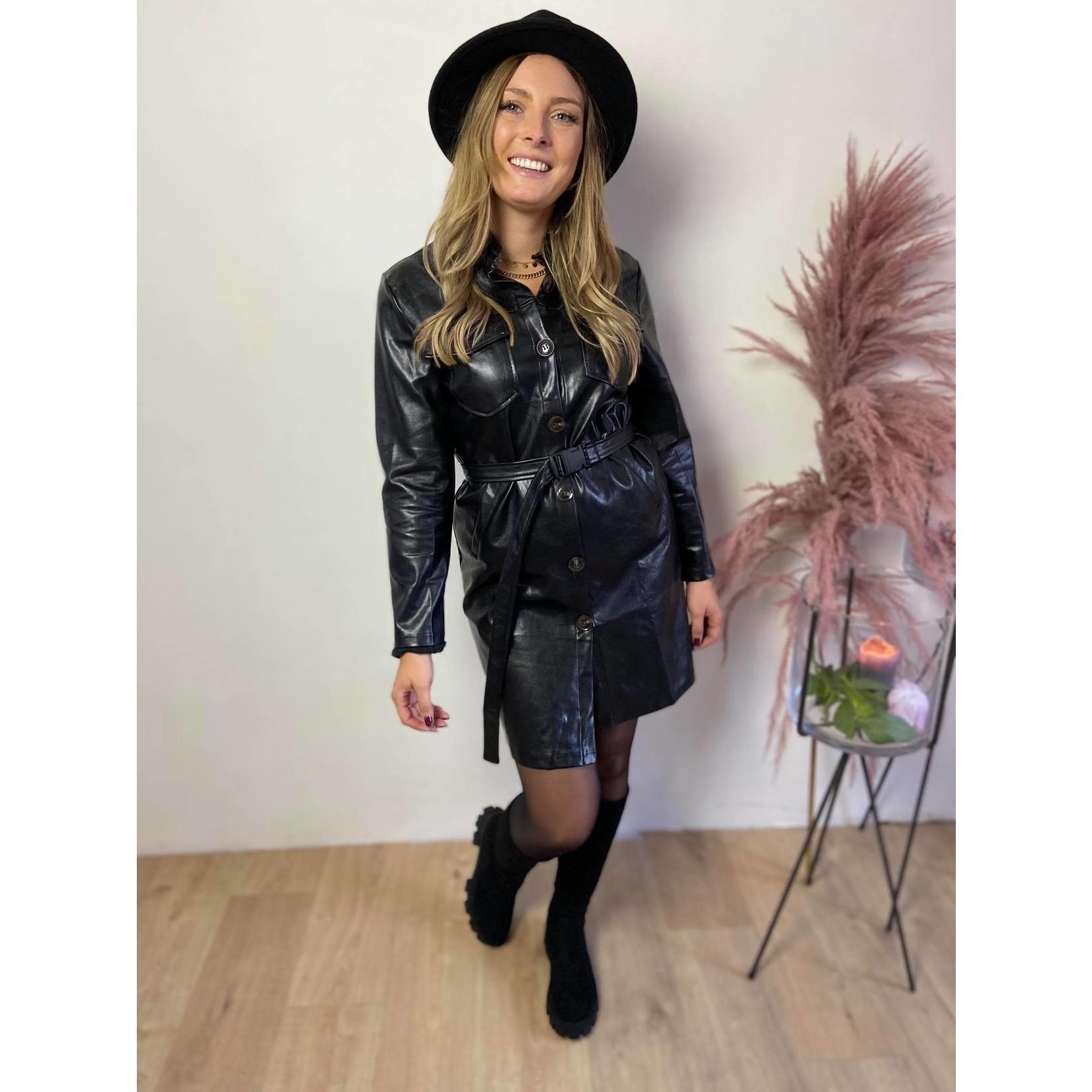 Dress similaire cuir black