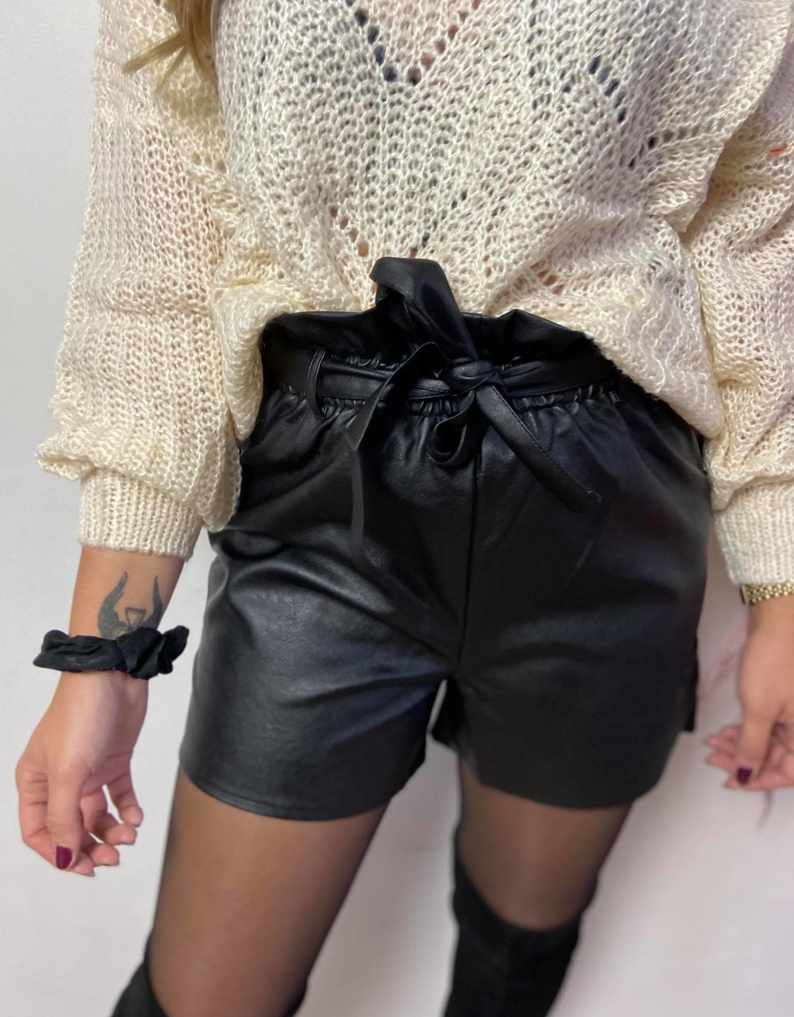 Mica pu shorts black