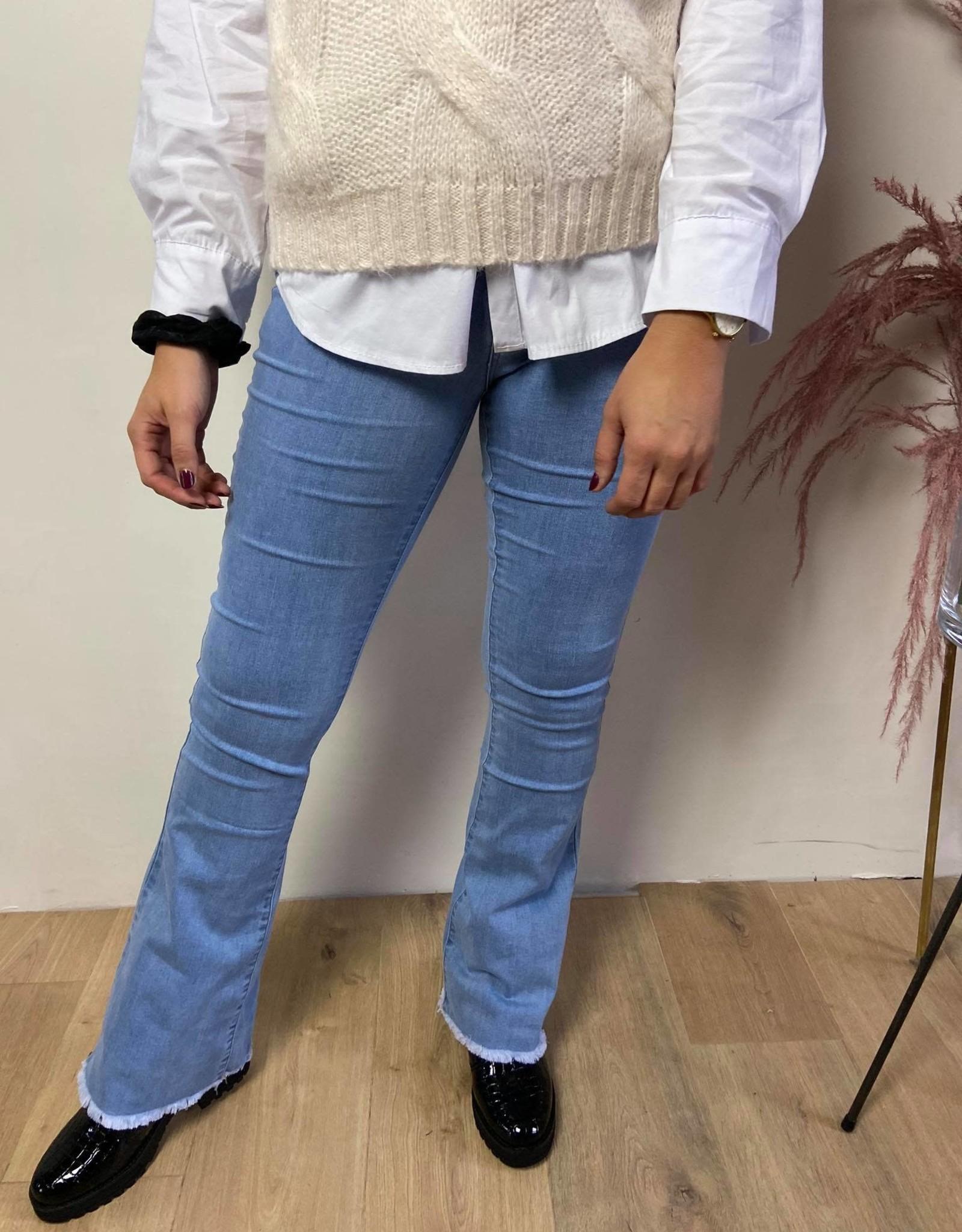 Super stretch jeans brede pijp