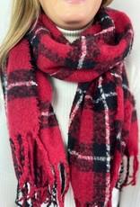Sjaal ruit rood