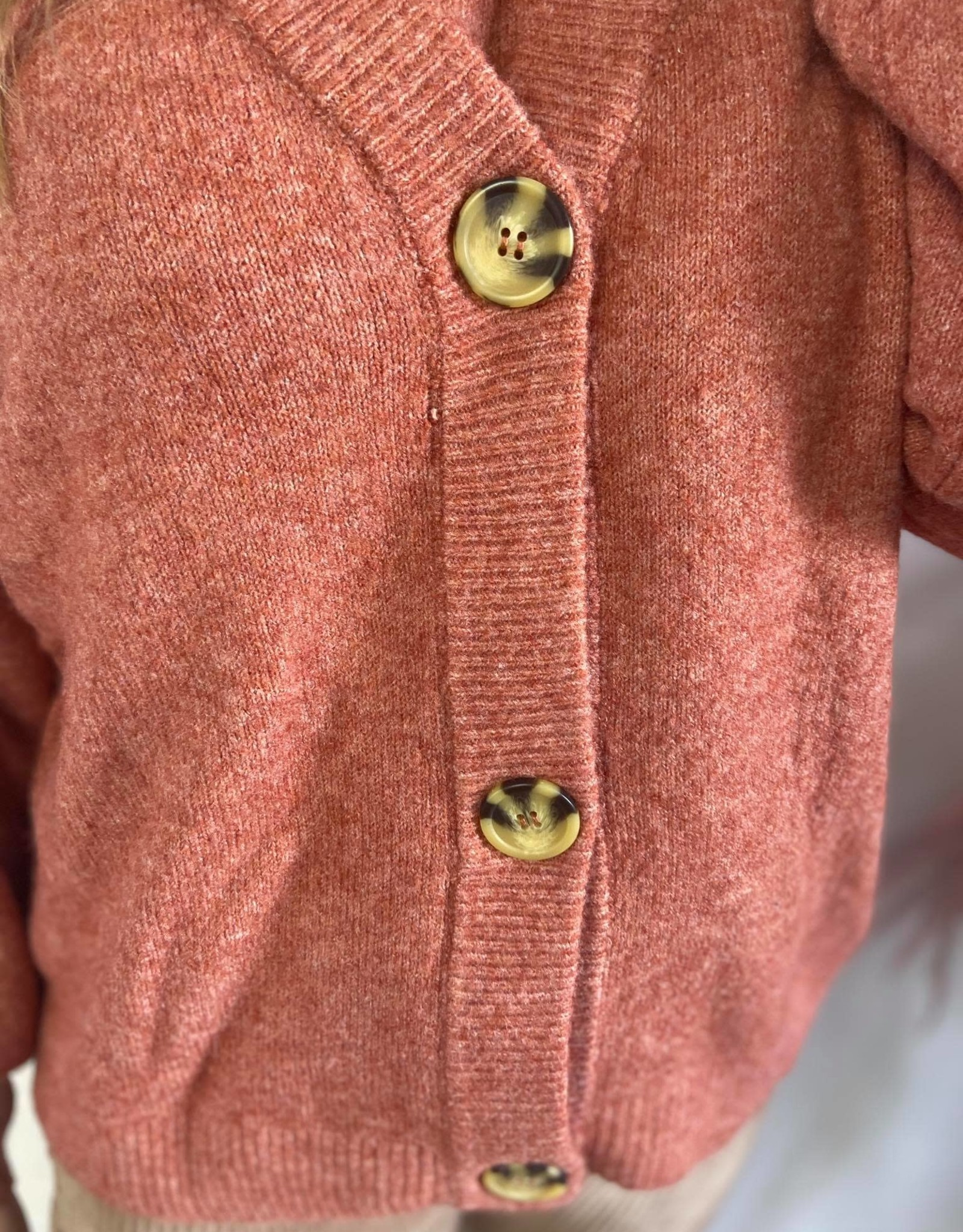 AnghaCR OZ Knit Cardigan et red