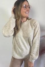 AnghaCR OZ Knit Pullover oat melange