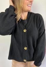 AnghaCR OZ Knit Cardigan black