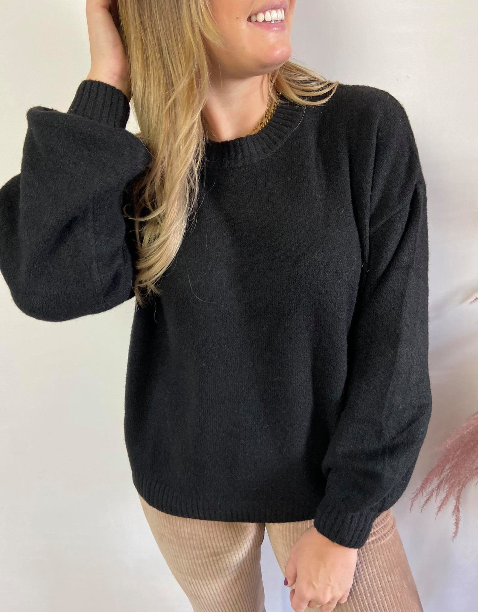 AnghaCR OZ Knit Pullover black