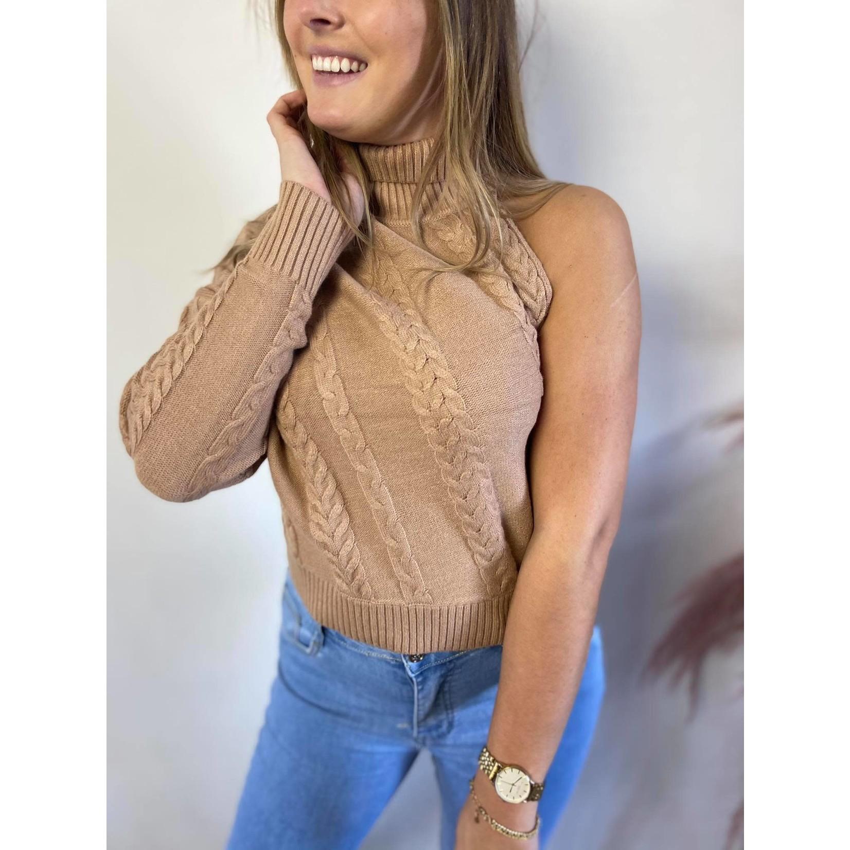 One sleeve sweater beige TU