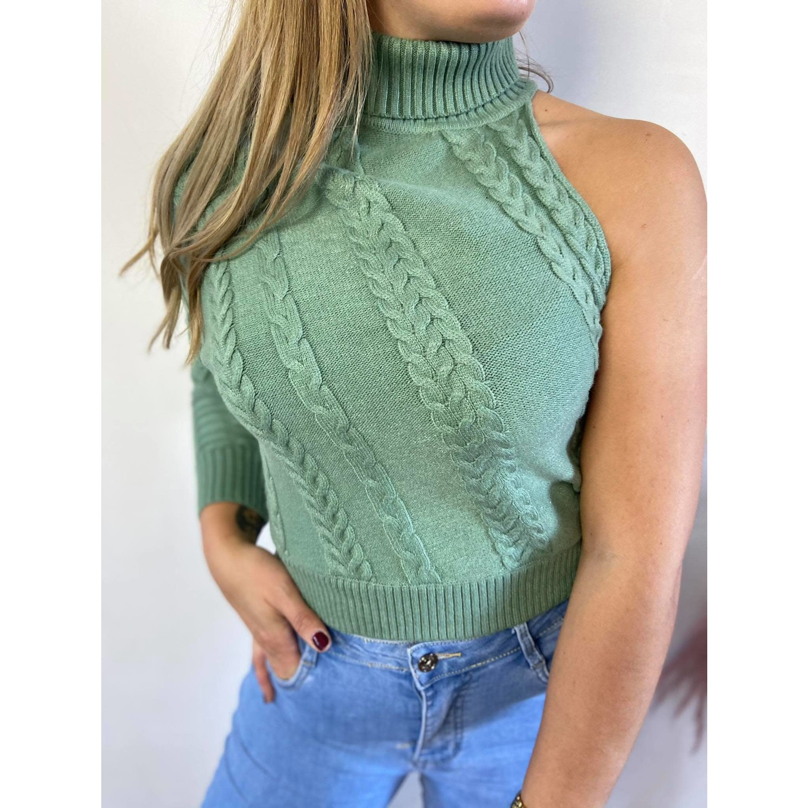 One sleeve sweater mint TU
