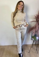 Maja belt pant beige