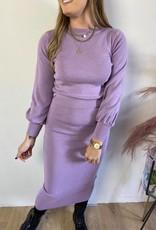 Sweater and tight skirt set lila TU