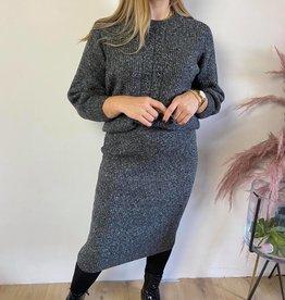 KAbetina Knit Skirt dark grey