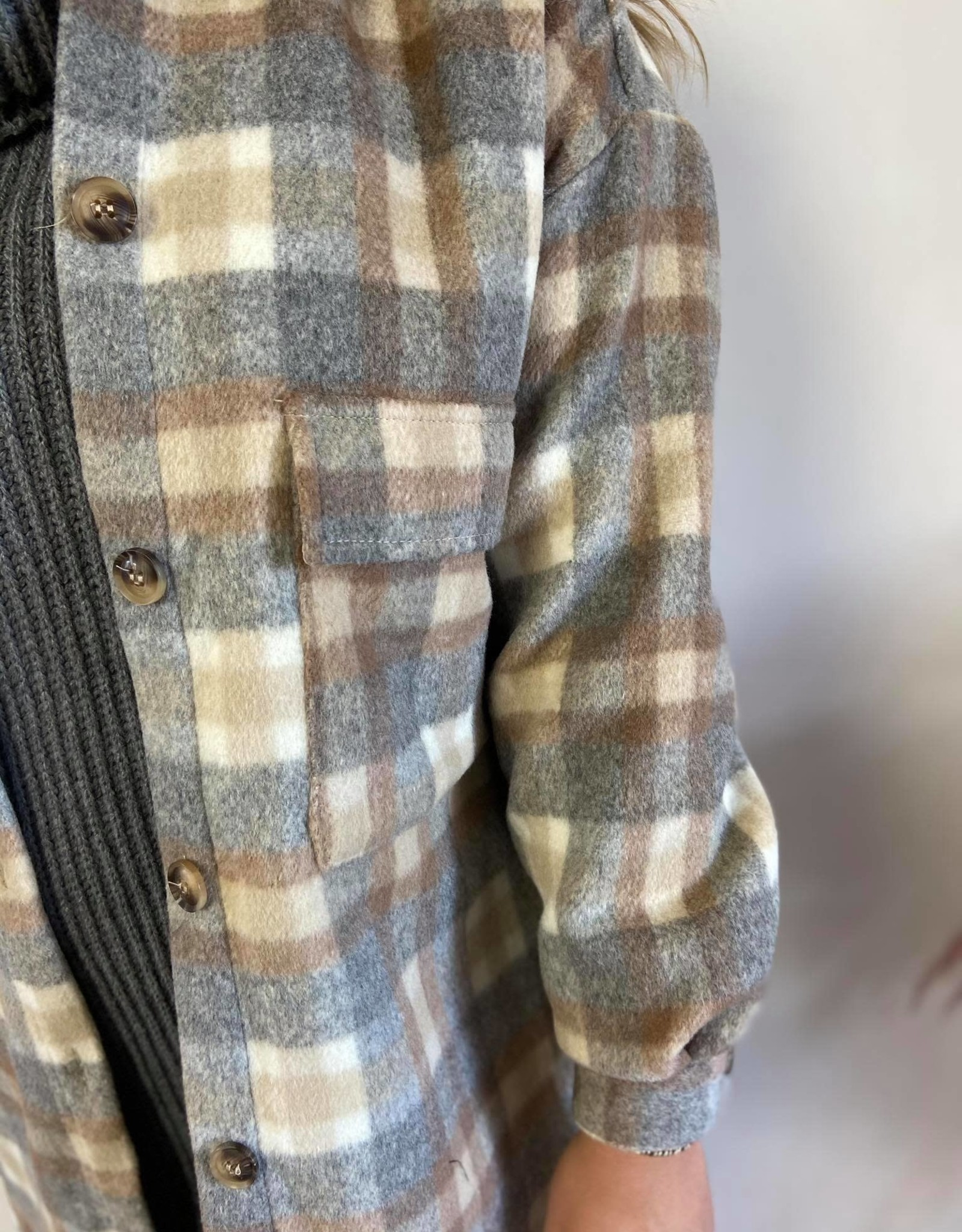 TaraCR OZ Shirt Jacket feather grey