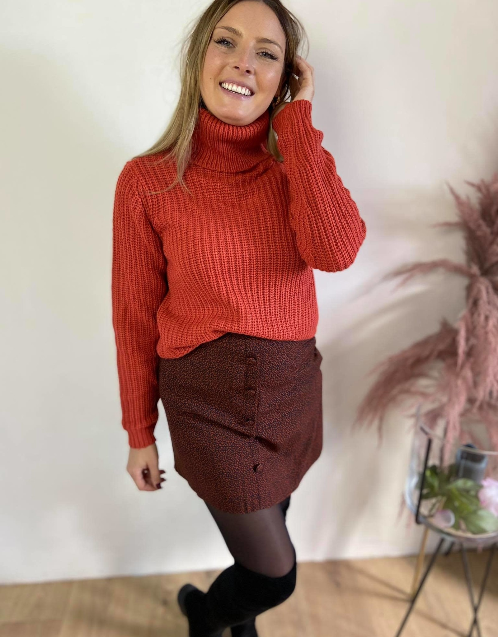 Tinelle rollneck knit rust