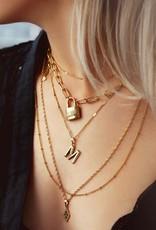 My Jewellery Schakelketting love lock goud